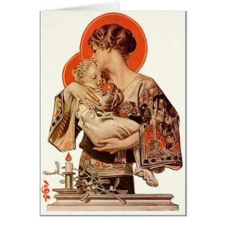 A J.C. Leyendecker Illustrated Christmas Card