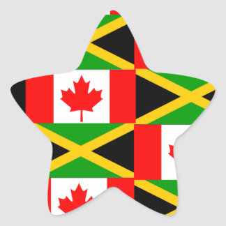 a jamaican canadian star sticker