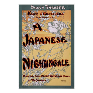 A Japanese Nightingale by Onoto Watanna 1903 Poster
