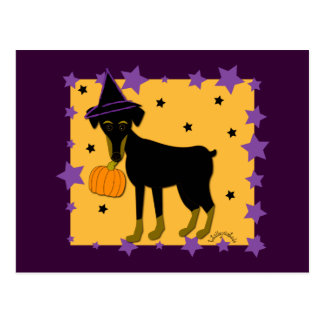 A Jazzy Witch Postcard
