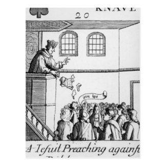 A Jesuit Preaching Against Our Bible Postcard