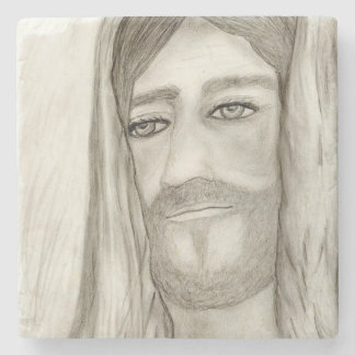 A Jesus Stone Coaster
