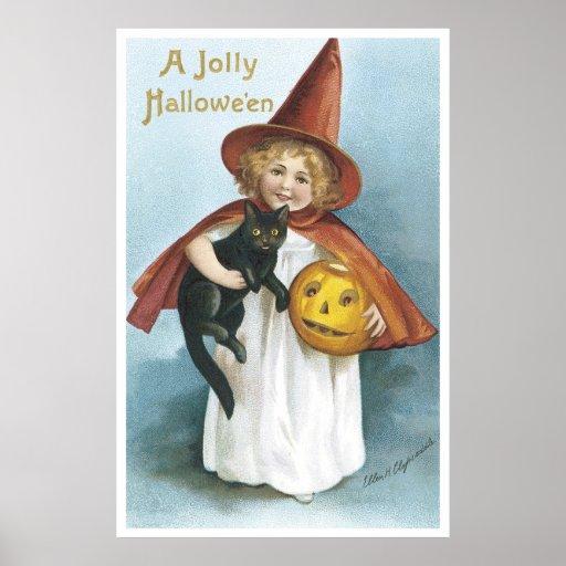 A Jolly Hallowe'en Print