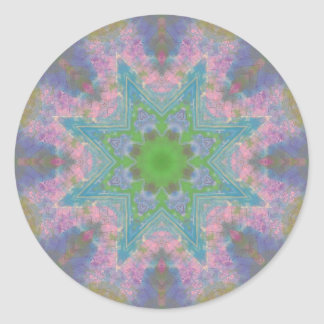 A Journal Mandala Classic Round Sticker