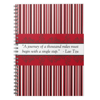 A Journey of a Thousand Miles Red Spiral Notebooks