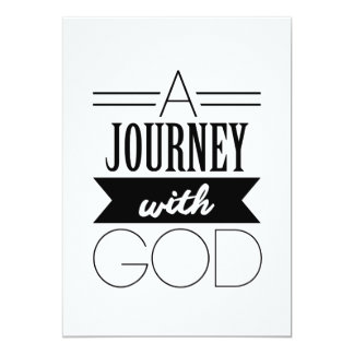 A Journey with God Card