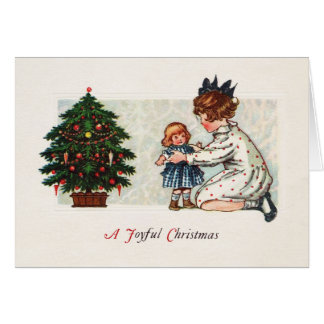 A Joyful Christmas - vintage Card