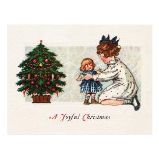 A Joyful Christmas - vintage Postcard