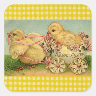 A Joyful Easter Square Sticker