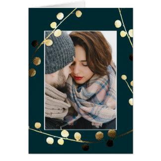 A Joyful Noel Faux Gold Photo Card