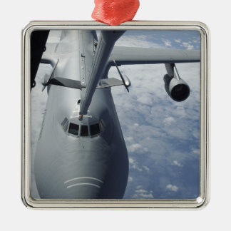A KC-10 Extender prepares to refuel a C-5 Galax Metal Ornament