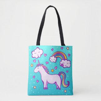 A kid unicorn tote bag