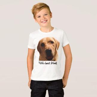 A Kid's Best Friend!   Yellow Lab T-Shirt