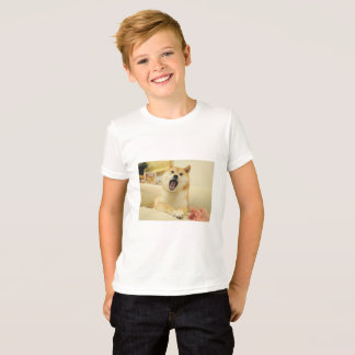 A Kids T-Shirt with Doge On It