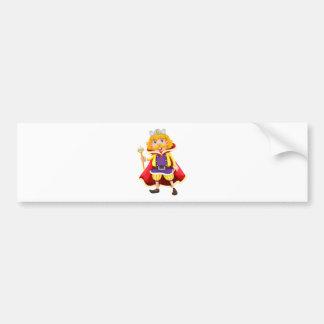 A king bumper sticker