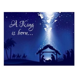 A king is born.. postcard