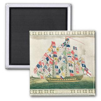 A King's Ship Fridge Magnet
