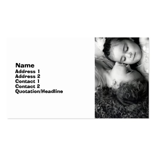 A Kiss For O Business Card 2