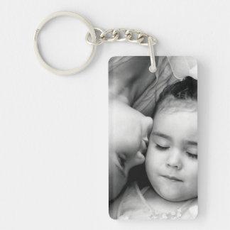 A Kiss For O Rectangle Keychain (2 sided)