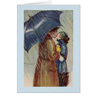A Kiss Under an Umbrella, Card