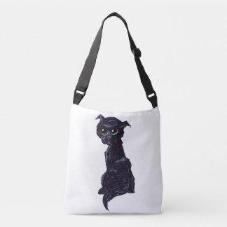 A #Kitty Named Jewel | #jWe | #BlackCat #GreenEyes Crossbody Bag