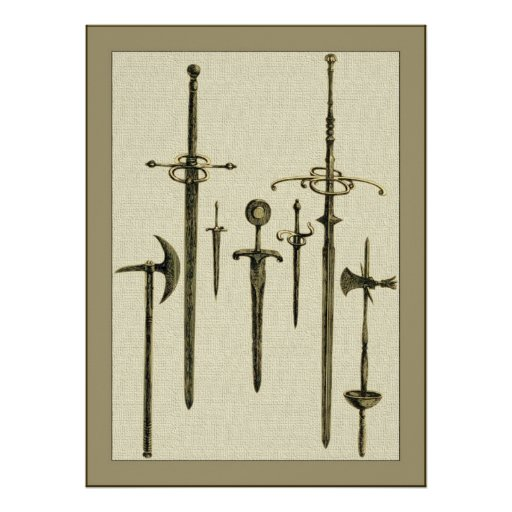 A Knight's Weapons Poster