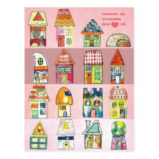 """""""À la maison est où mon coeur est"""" carte postale"""
