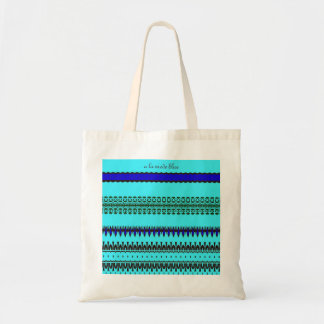 A la mode Blue Tote Bag