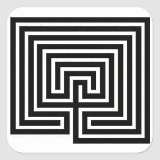 A Labyrinth to Stick with You - Square Sticker