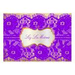 À lacets vintage/violette de PixDezines Modèles De Cartes De Visite