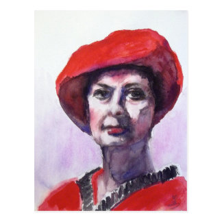 A Lady in Red Postcard