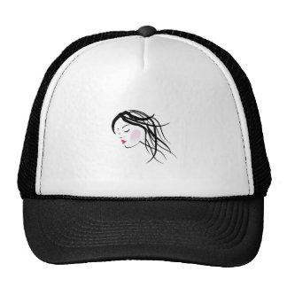 A lady with dreadlocks- dreadlock fashion graphic trucker hat