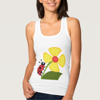 A Ladybug Flower Tank Top