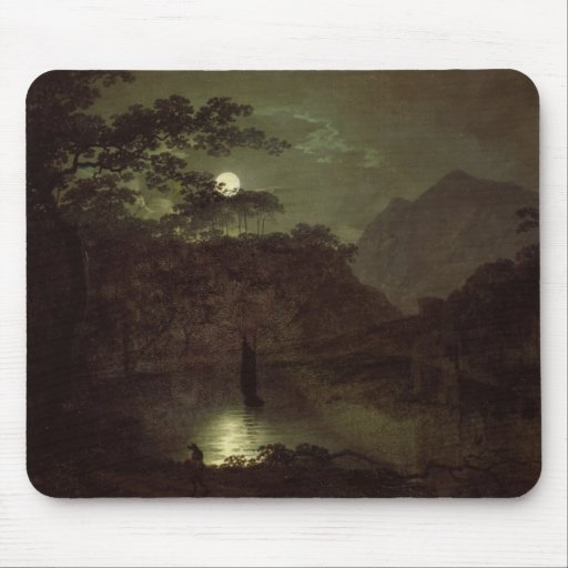A Lake by Moonlight, c.1780-82 (oil on canvas) Mousepad