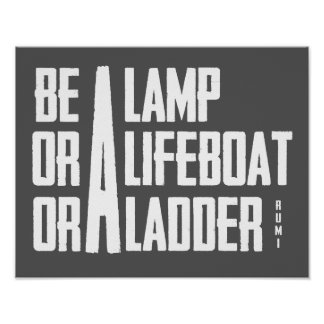 A Lamp, A Lifeboat, A Ladder Poster