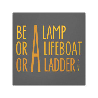 A Lamp, A Lifeboat, A Ladder Stretched Canvas Print