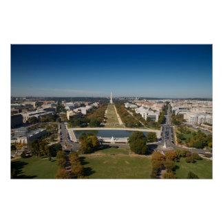 A landscape view of Washington DC Perfect Poster