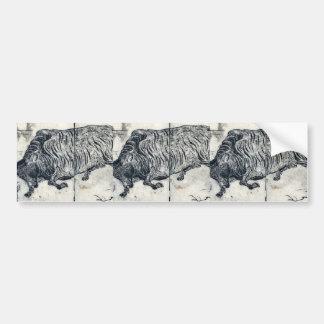 A large bull or ox by Tachibana, Morikuni Ukiyoe Bumper Sticker