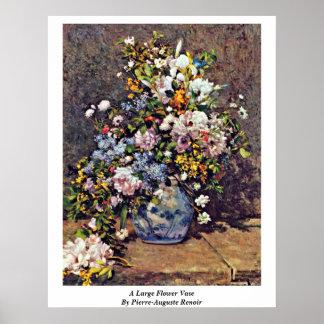 A Large Flower Vase By Pierre-Auguste Renoir Poster