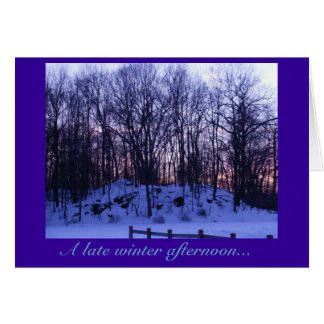 'A late winter afternoon' Card