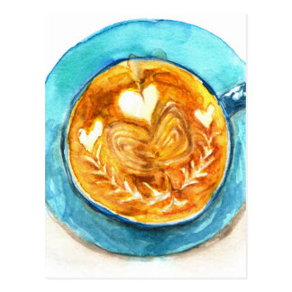 A Latte with Love Postcard