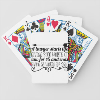 A lawyer starts life giving $500 worth of law for bicycle playing cards
