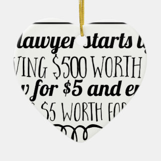 A lawyer starts life giving $500 worth of law for ceramic ornament