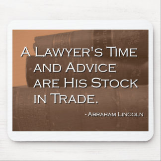 A Lawyer's Time and Advice Mouse Pad