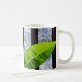 A Leaf On Stripes Mug