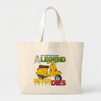 A_Legend_Never_Dies_(Px 125) Large Tote Bag