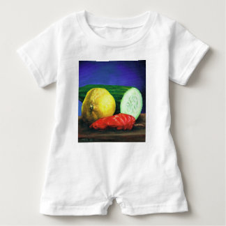 A Lemon and a Cucumber Baby Romper