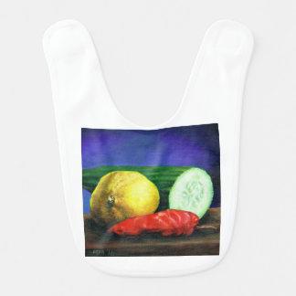 A Lemon and a Cucumber Bib