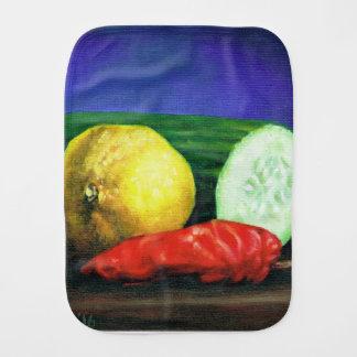 A Lemon and a Cucumber Burp Cloth