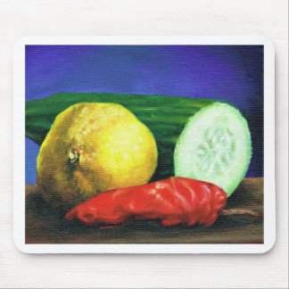 A Lemon and a Cucumber Mouse Pad